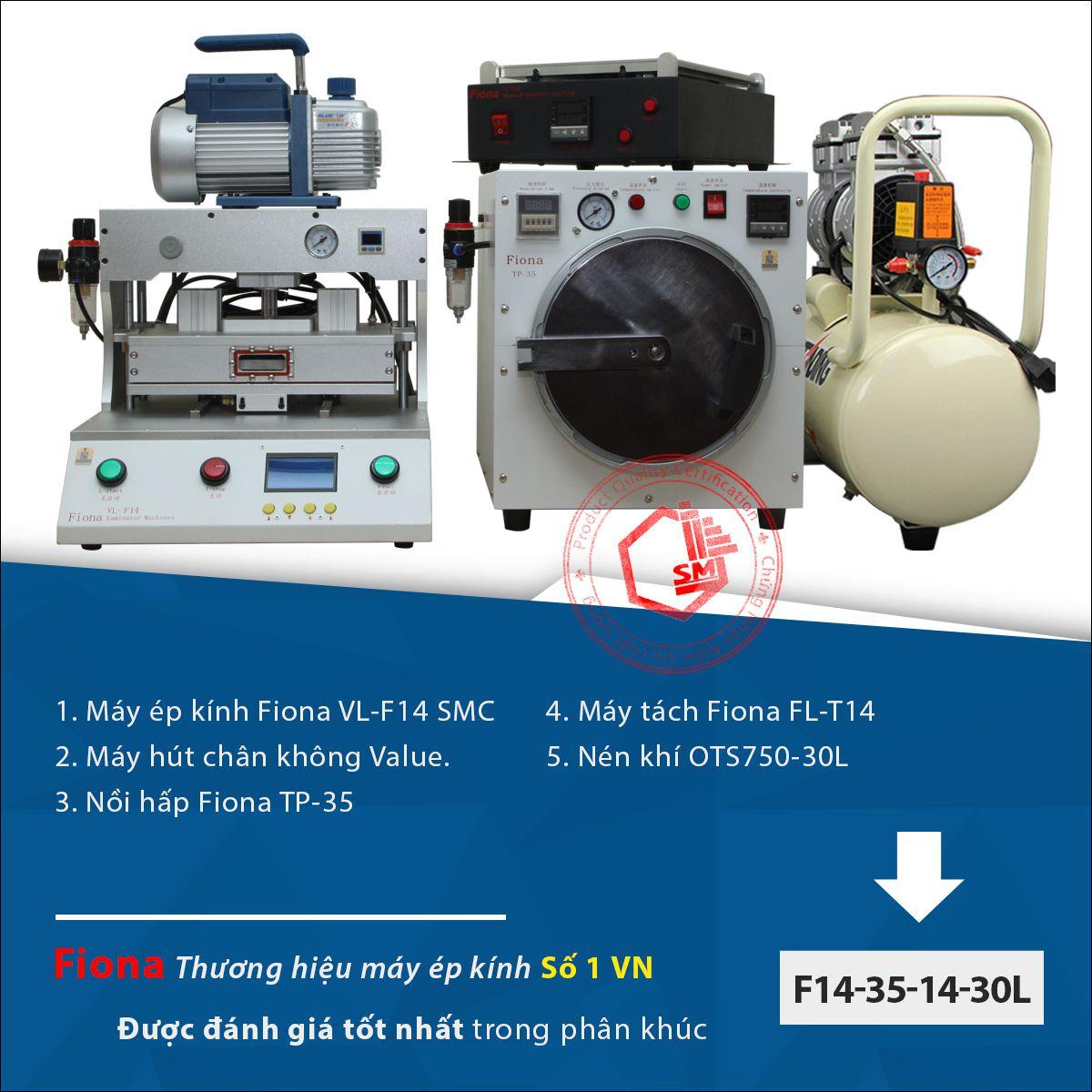 Bộ máy chuẩn của thương hiệu Fiona. Chất lượng tuyết vời khi được phối ghép cùng Máy tách kính Fiona T14 hệ Solid