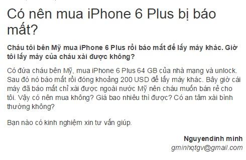 cau hoi co nen mua iphone bao mat khong
