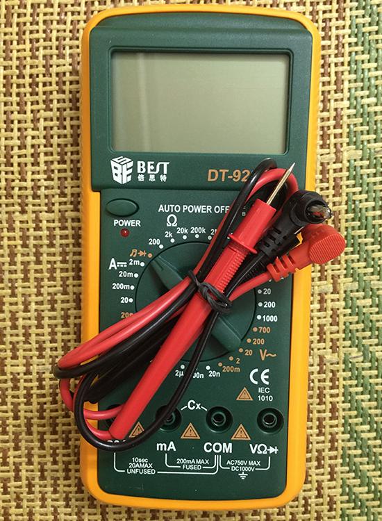 Đồng hồ vạn năng điện tử đo nguồn, dòng, ôm, thông mạch.