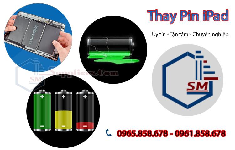 Thay Pin ipad 2, 3, 4/ ipad mini 1, 2, 3, 4/ ipad air 1, 2, 3 chính hãng