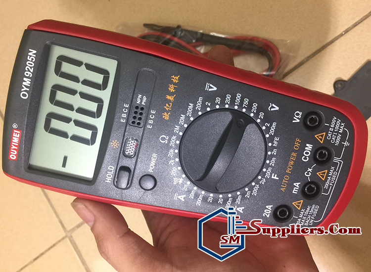 Đồng hồ điện tử đo mạch, vol, trở kháng, F, A OUYIMEI 9205N
