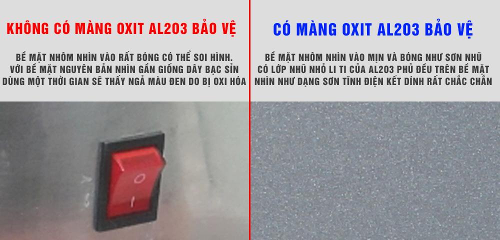 mat nhom co khi co mang oxit AL203 bao ve