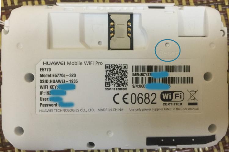 reset thiết bị phát wifi e5770s-320 về mặc định ban đầu