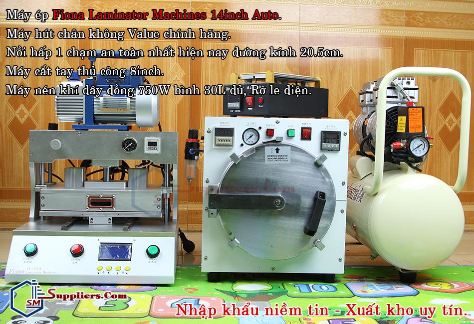 Bộ máy ép kính nhập khẩu Fiona Laminator Machines tự động 14inch nhập khẩu