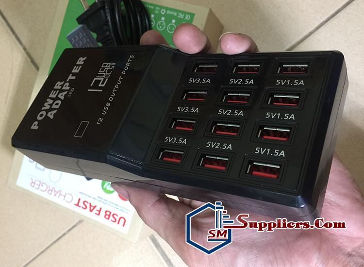 Bộ xạc 12 chân dòng 12A max 3.5A kích pin siêu nhanh, đầy pin tự ngắt