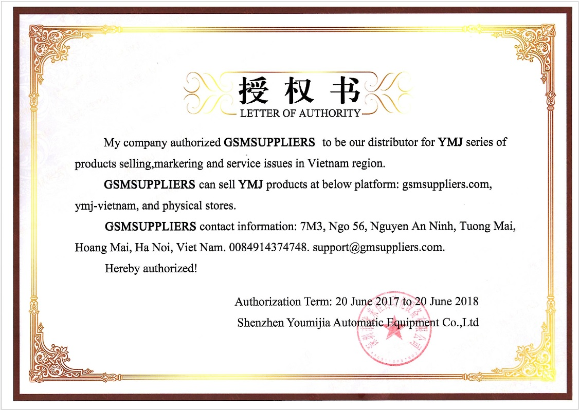 Gsmsuppliers sell YMJ Machine in Vietnam